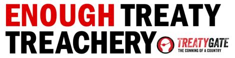 Banner - ENOUGH TREATY TREACHERY