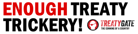 Banner - ENOUGH TREATY TRICKERY!