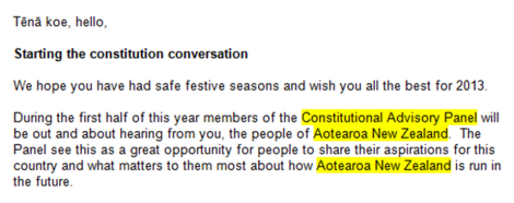 Constitutional Advisory Panel - email - Aotearoa NZ