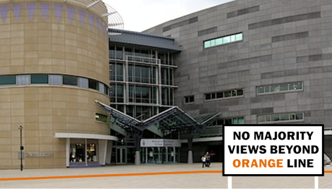 Te Papa - No Majority Views Beyond Orange Line