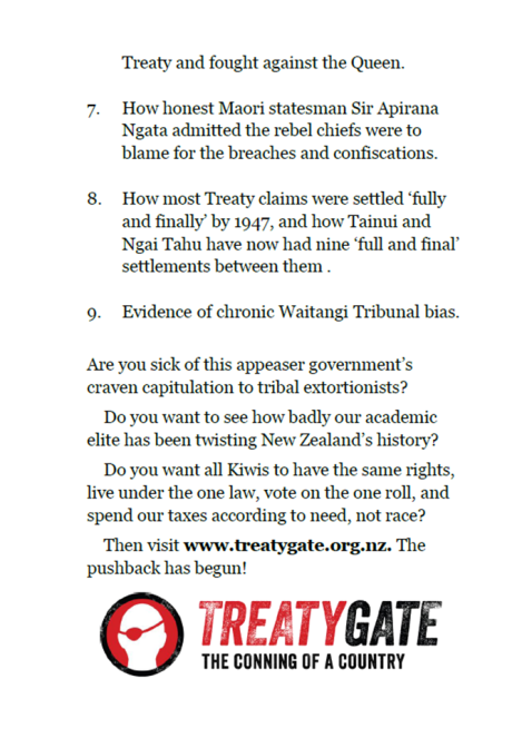 Te Papa Treaty Debate 24 Jan 2013 - handout back