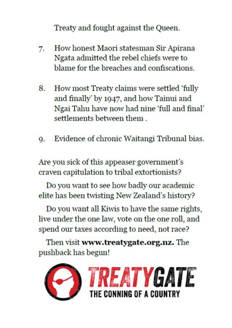Te Papa Treaty Debate 24 Jan 2013 - handout back